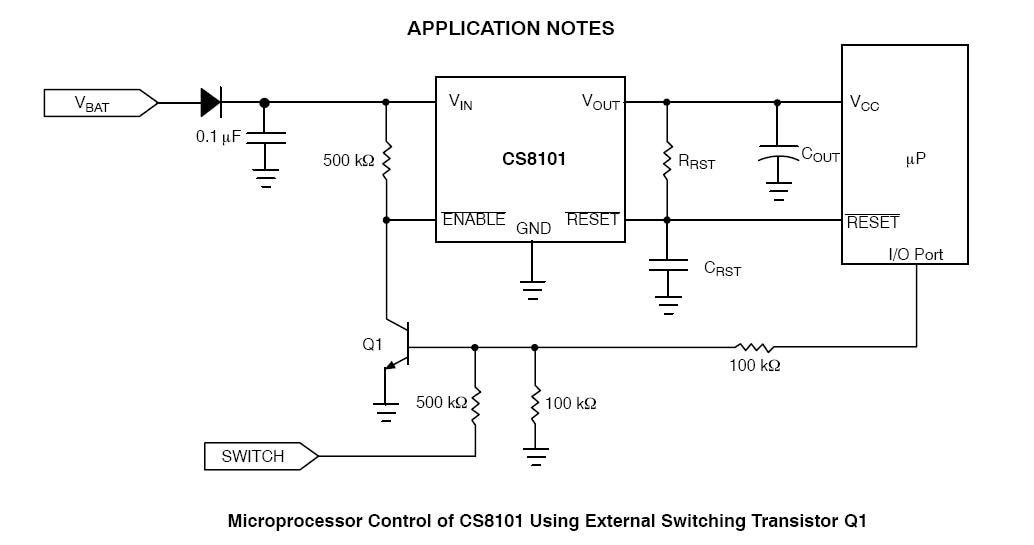 CS8101: Linear Voltage Regulator, LDO, 100 mA, with Reset and Enable
