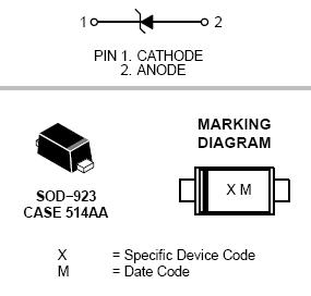 ESD9X5.0S: ESD Protection Diode