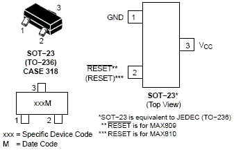 NCV809: Voltage Supervisor, 3-Pin, Microprocessor, Very Low Supply Current, Reset Monitors