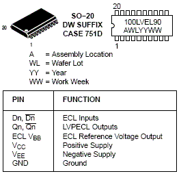 MC100LVEL90: Translator, Triple ECL Input to LVPECL Output