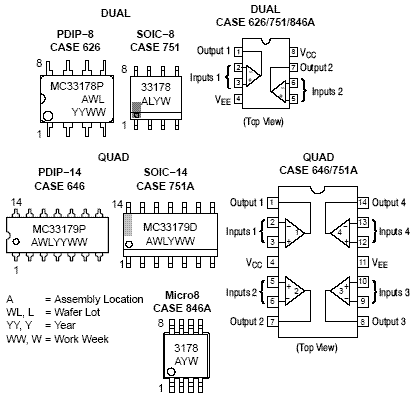 MC33178: Operational Amplifier, Low Power, Low Noise, Dual