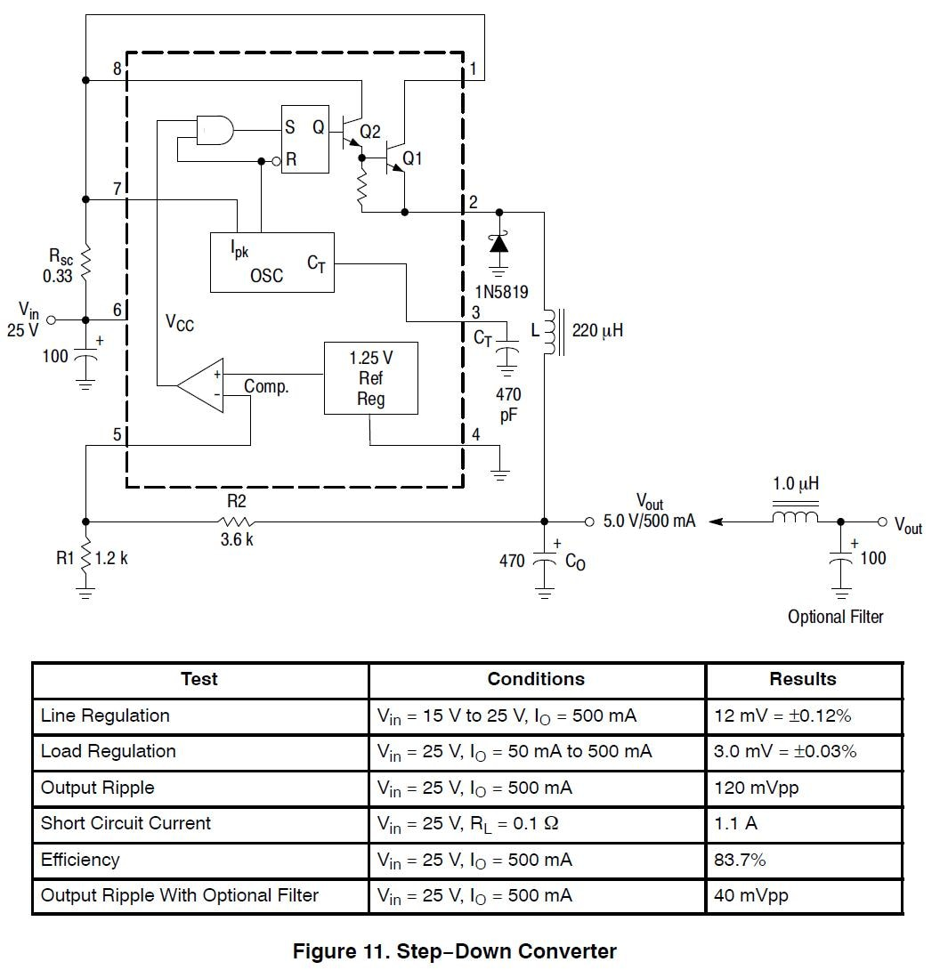 Currentlimit Circuit For The Buck Regulator Mc34063a Boost Inverting Switching 15 A Packages