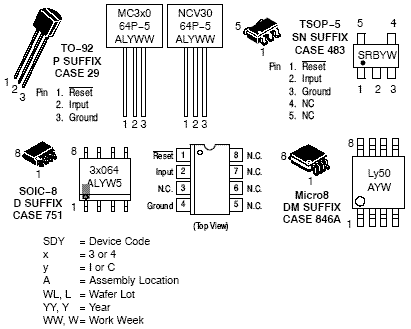 MC34064: Voltage Supervisor, Undervoltage Sensing Circuit