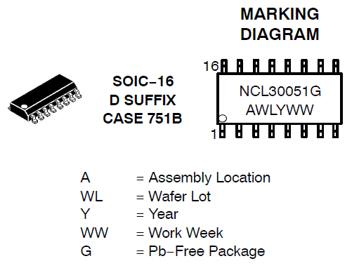 NCL30051: Offline Controller, PFC and Half Bridge Resonant Mode, for LED Lighting