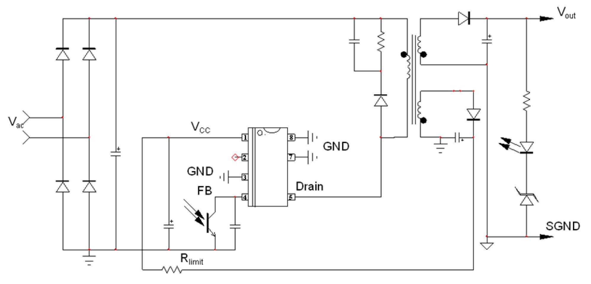 Ncp1075 High Voltage Switching Regulator For Offline Smps Nonisolated Power Supply Design Eeweb Integrations Tech 626a 01