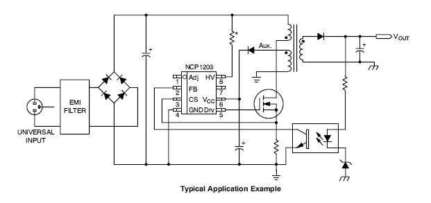 NCP1203: PWM Controller, Fixed Frequency, Flyback, Current Mode