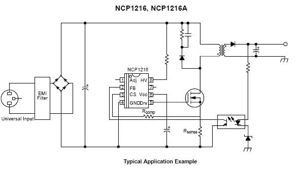 NCP1216: PWM Controller, Fixed Frequency, Current Mode
