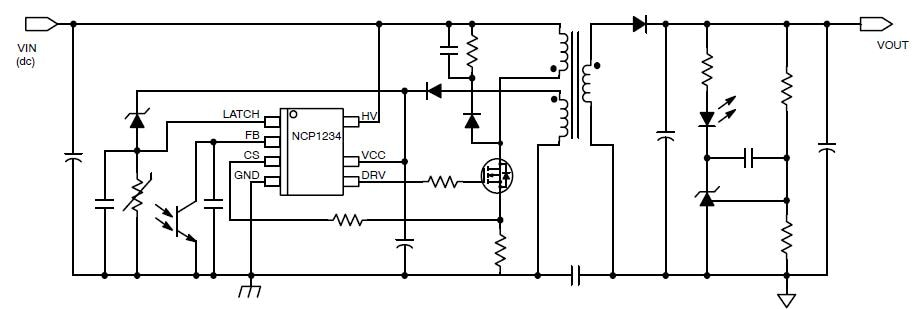 NCP1234: Controller, Fixed Frequency, Current Mode, for Flyback Converters