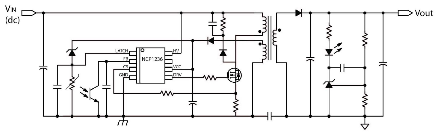 NCP1236: Controller, Fixed Frequency, Current Mode, for Flyback Converters