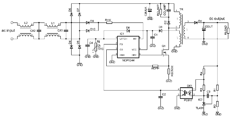 NCP1244: Controller, Fixed Frequency, Current Mode, for Flyback Converters