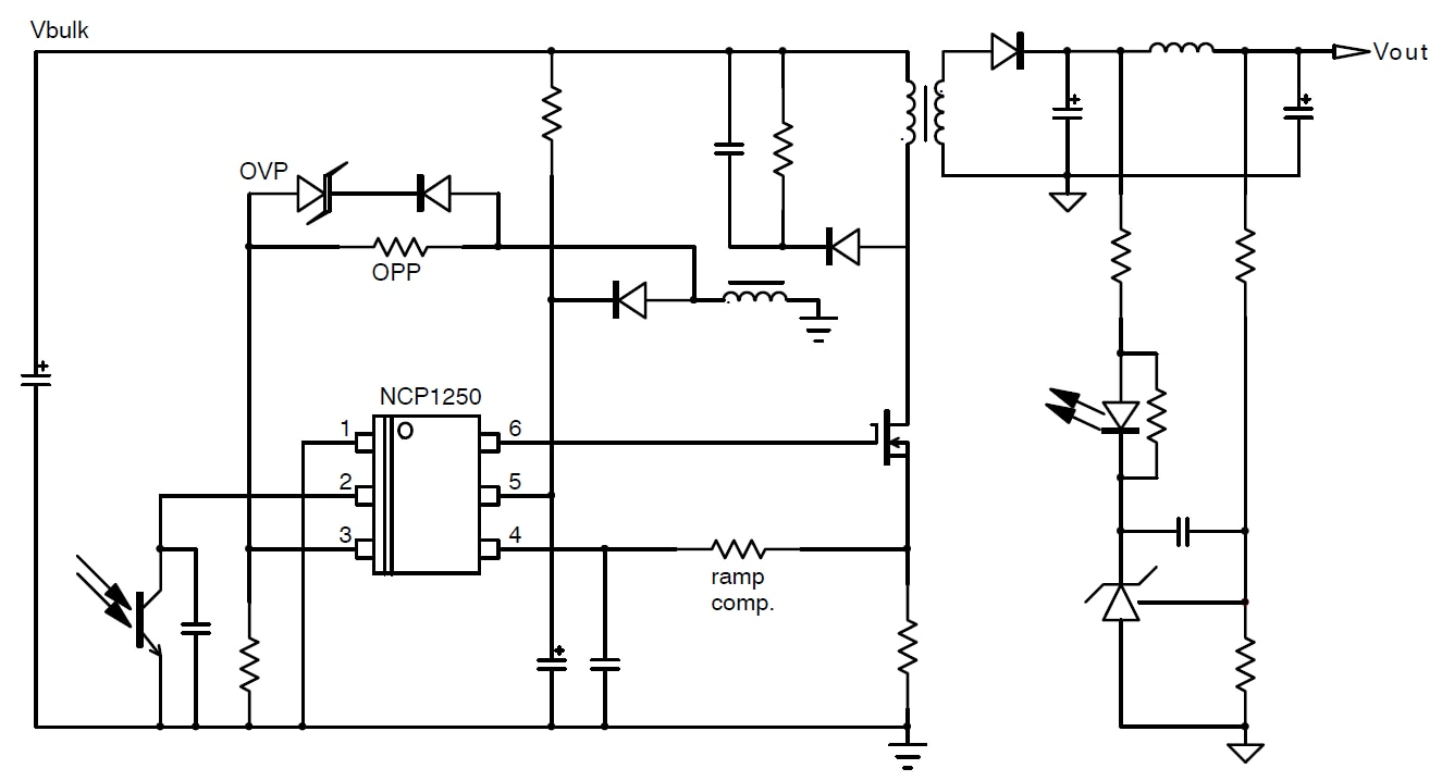 ncp1250  pwm controller  current mode  for offline power