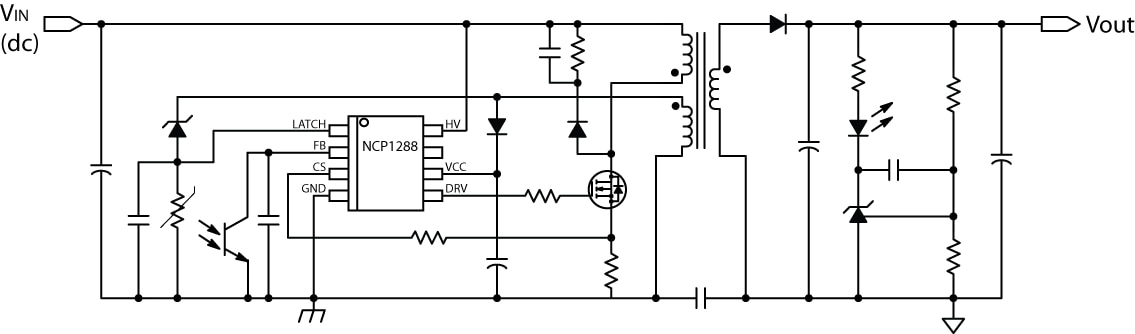 NCP1288: Controller, Fixed Frequency, Current Mode, for Flyback Converters