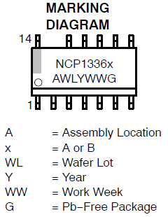 1X ON SEMICONDUCTOR NCP1336BDR2G QUASI-RESONANT MODE CONTROLLER SOIC-13