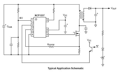 NCP1337: Controller, Quasi-Resonant Current Mode, with Overpower Compensation