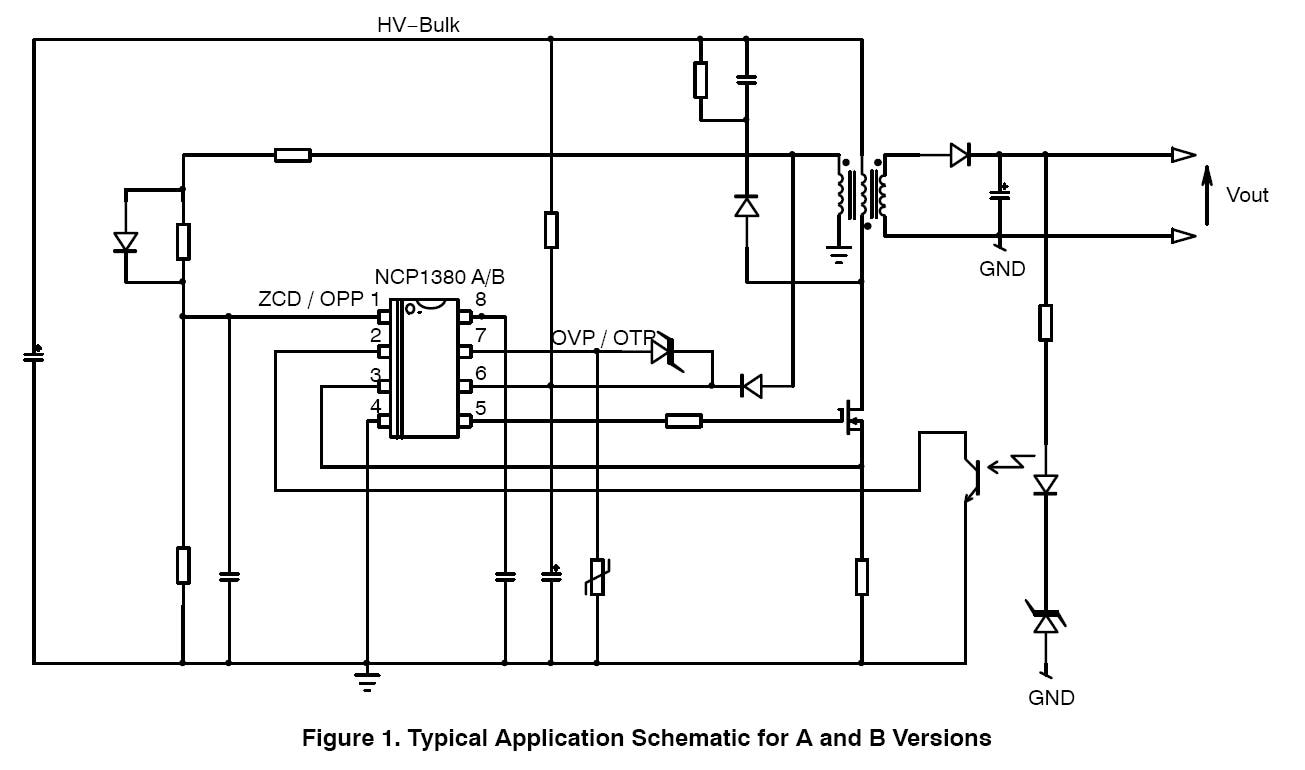 Ncp1380 Controller Quasi Resonant Current Mode Offline Supply Drives Leds Figure 1 Packages