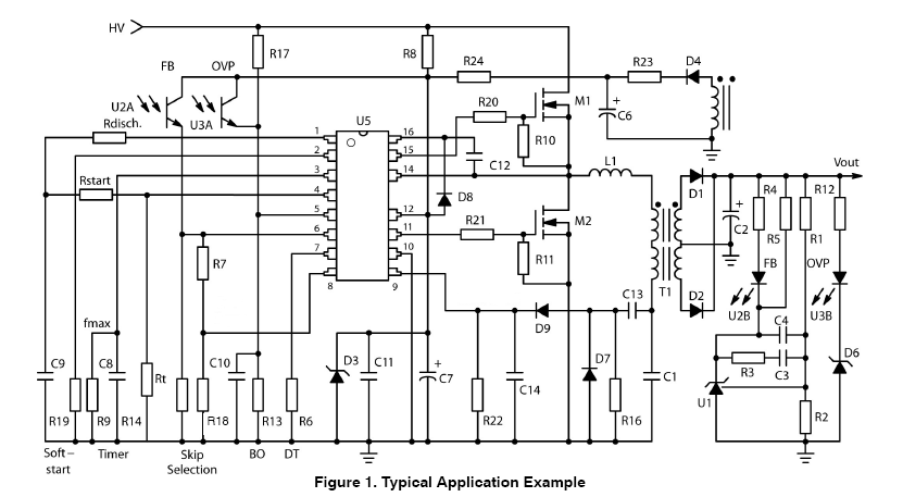 NCP1397: Controller, High Performance, Resonant Mode, with Integrated High Voltage Drivers