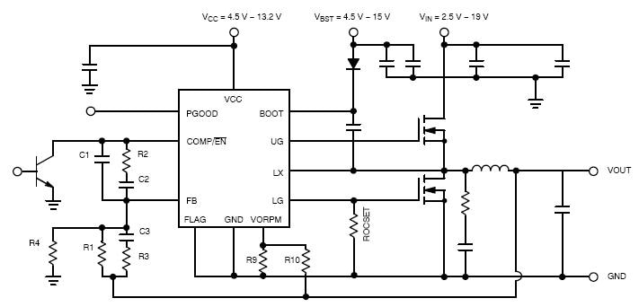 ncp1589l  synchronous buck controller  low voltage  with light load efficiency and transient