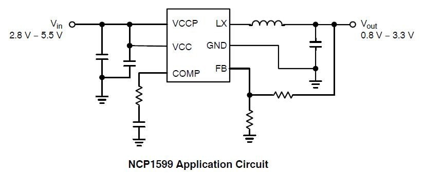 NCP1599: Synchronous Buck Converter, 1 MHz, 3.0 A