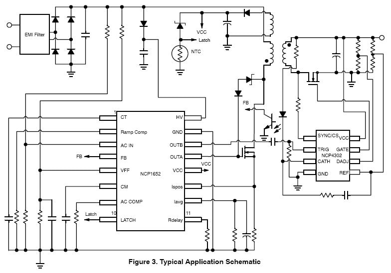 NCP1652: Power Factor Controller (PFC), High Efficiency, Single Stage