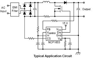 NCP1653: Power Factor Controller (PFC), Continuous Conduction Mode, Fixed Frequency, Compact