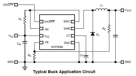 NCV3064: Buck / Boost / Inverting Converter, Switching Regulator, 1.5 A, with On/Off Function
