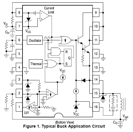 NCP3163: Buck / Boost / Inverting Regulator, Switching, 3.4 A, 300 kHz