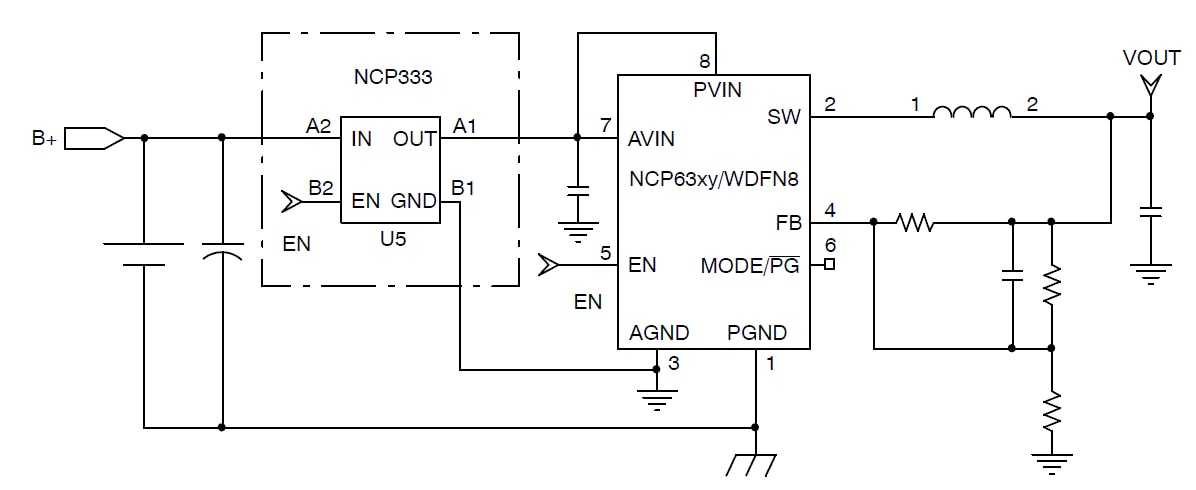 NCP333: Load Switch with Discharge Path, 1.5 A