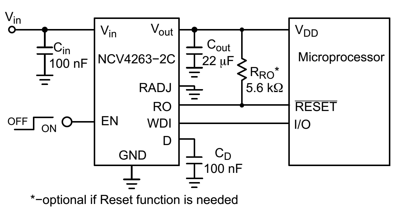 NCV4263-2C: LDO Regulator, 200 mA, High PSRR