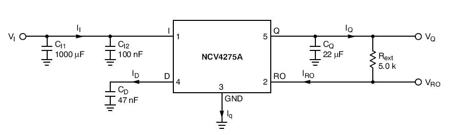 NCV4275A: Linear Voltage Regulator, LDO, 450 mA, with Reset