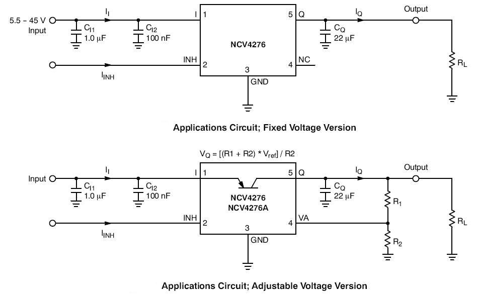 NCV4276: 400 mA LDO Linear Voltage Regulator with Enable