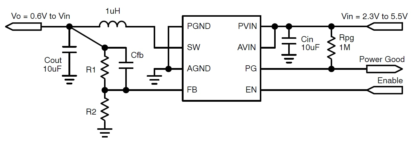 NCV6334: 3.0 MHz, 2.0 A PFM/PWM Synchronous Step Down Converter with Power Good