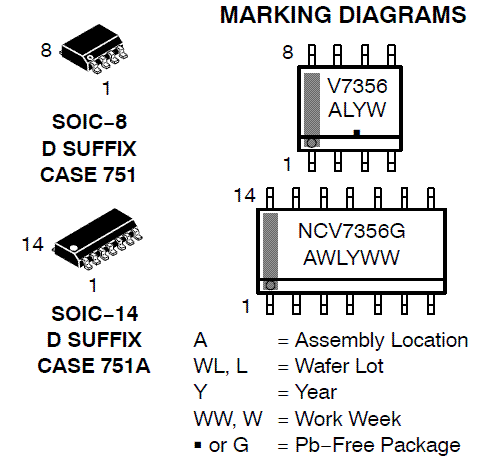 NCV7356: CAN Transceiver, Single Wire