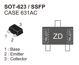 NSVF5501SK: RF Transistor for Low Noise Amplifier