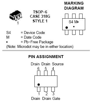 NTGS4141N: Single N-Channel Power MOSFET 30V, 7A, 25mΩ