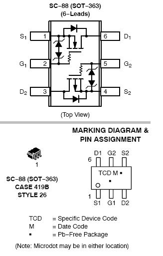 NVJD4158C: Complementary Small Signal MOSFET