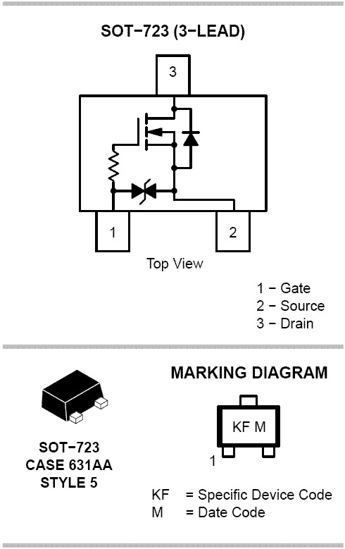NTK3134N: Single N−Channel Power MOSFET with ESD Protection 20V 890 mA 350 mΩ