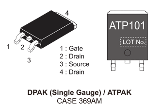 NVATS4A101PZ: P-Channel Power MOSFET -30V, -27A, 30mΩ