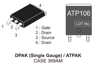 NVATS5A106PLZ: P-Channel Power MOSFET -40V, -33A, 25mΩ
