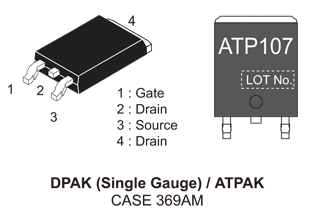 NVATS5A107PLZ: P-Channel Power MOSFET -40V, -55A, 17mΩ