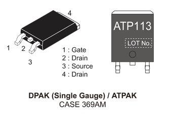 NVATS5A113PLZ: P-Channel Power MOSFET, -60V, -38A, 29.5mΩ