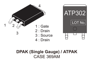 NVATS5A302PLZ: P-Channel Power MOSFET, -60V, -80A, 13mΩ