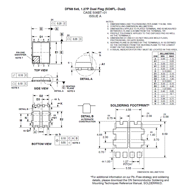 NVMFD5877NL: Dual N-Channel Logic Level Power MOSFET 60V, 17A, 39mΩ