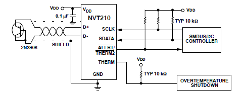 NVT210: ±1°C Digital Temperature Sensor with Series Resistance Cancellation for Automotive Applications