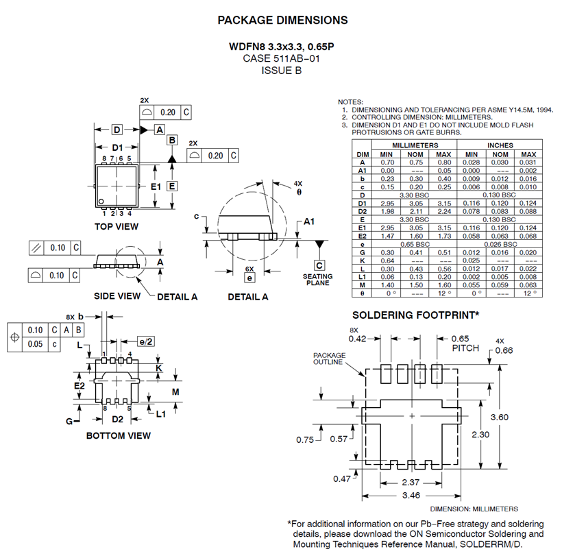 NVTFS5116PL: Single P-Channel Power MOSFET -60V, -14A, 52mΩ
