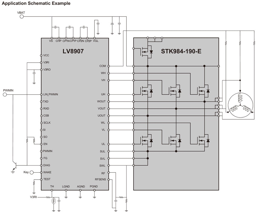 STK984-190-E: Power Integrated Module (PIM), MOSFET, 40 V, 30 A
