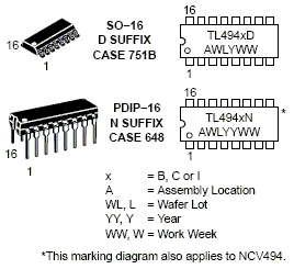 TL494: PWM Controller (up to 200 kHz)