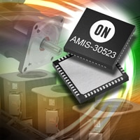 Image of the new AMIS-30523 which integrates a stepper motor driver and CAN transceiver in a single package, two-die device.