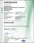 ISO 9001:2008 Certificate for San Jose, California