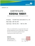 OHSAS 18001:2007 Certificate for Bucheon, South Korea