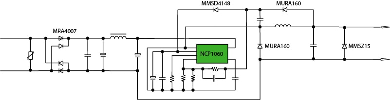 2 W Non-isolated buck block diagram